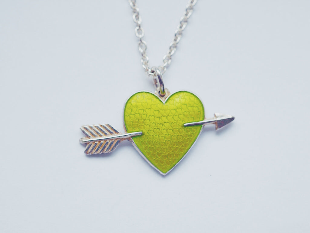 HEART WITH ARROW by Camilla Prytz lime green