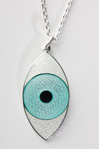 THIRD EYE NECKLACE MINT GREEN