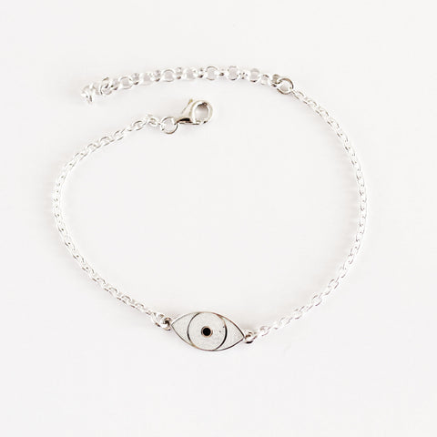 MINI THIRD EYE BRACELET white