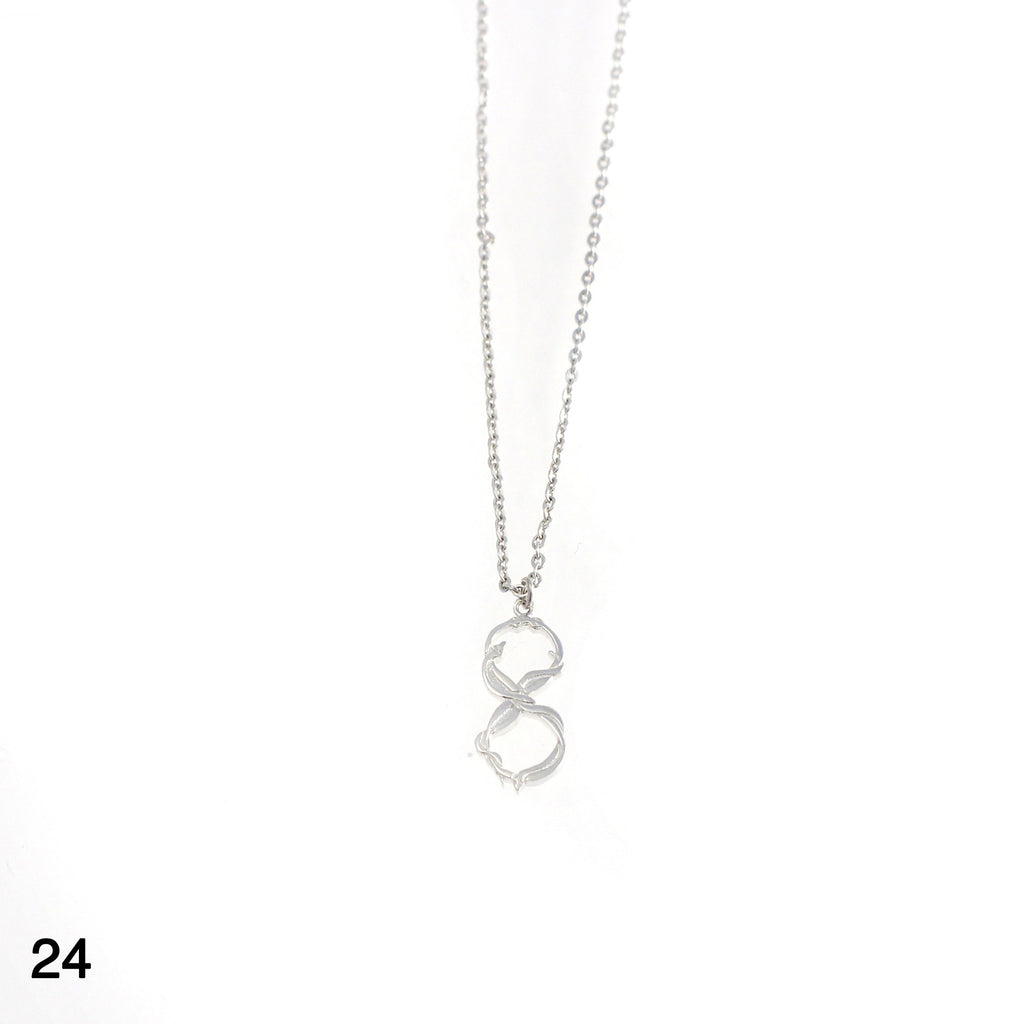 Snakes Infinity necklace silver by Camilla Prytz Lux