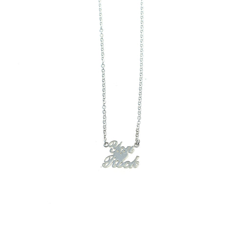 You Rock necklace silver by Camilla Prytz Lux