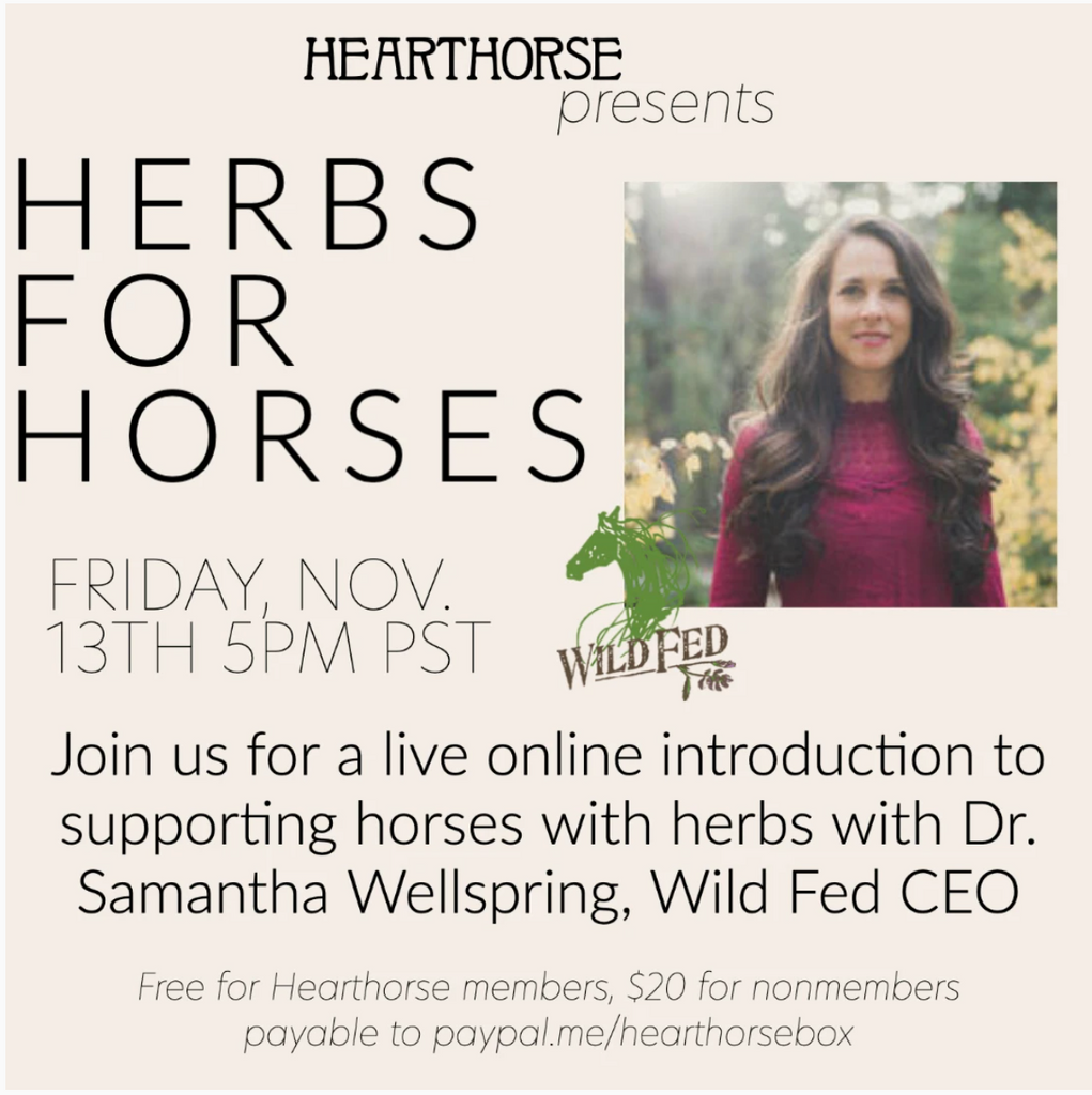 'Herbs for Horses' Class with Dr. Samantha Wellspring