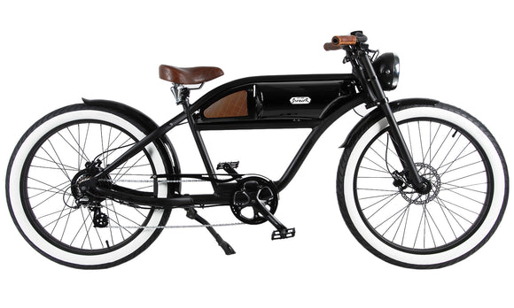 Michael Blast T4B Greaser 500w Electric Bike Cafe Racer - Black/Black