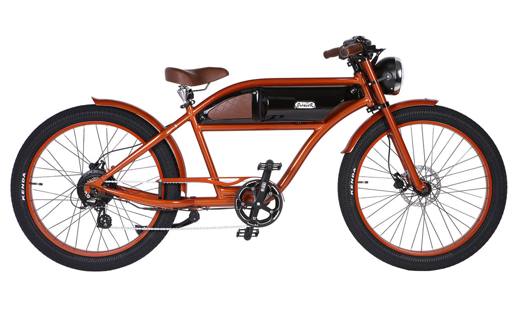 Michael Blast T4B Greaser 500w Electric Bike Cafe Racer - Bronze/Black