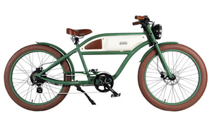 Michael Blast T4B Greaser 350w Electric Bike Cafe Racer - Green/White