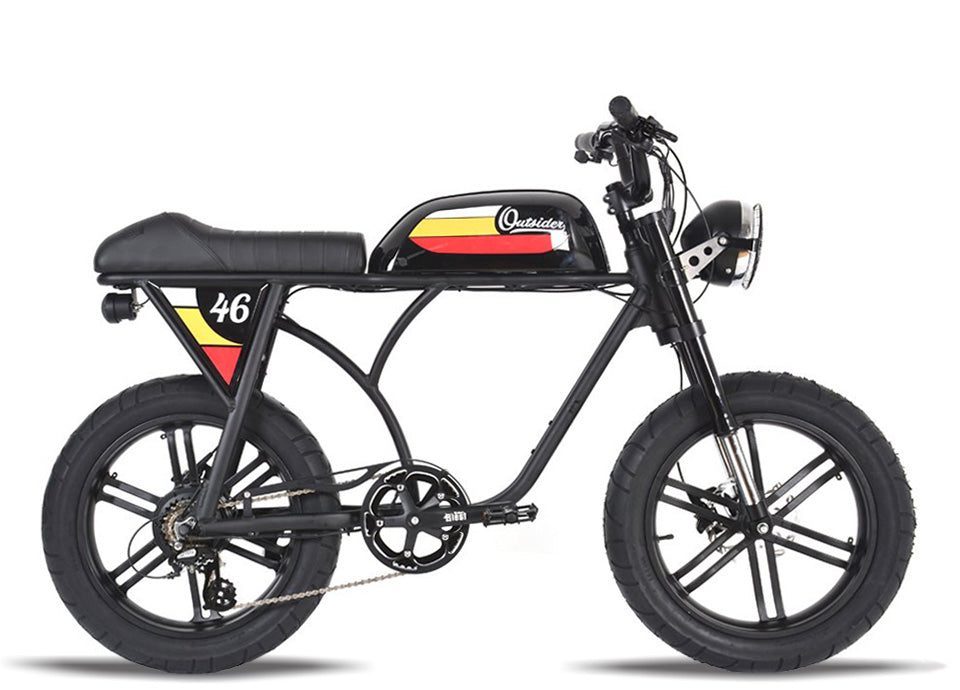 Michael Blast T4B Outsider 750W Fat Tire 48V14.5Ah - Black Case