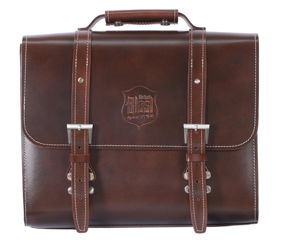 Back Rack Pannier Case - Brown Genuine Leather