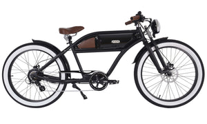 Michael Blast T4B Greaser 500w Electric Bike Cafe Racer - 2020 Springer Edition - Black/Black/Black Rim
