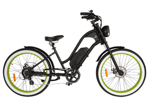 Michael Blast T4B Vacay 500w Electric Bike Low Step - Green Rim