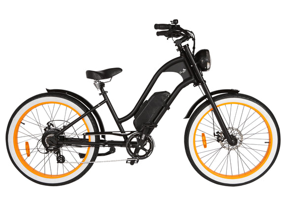 Michael Blast T4B Vacay 350w Electric Bike Low Step - Orange Rim