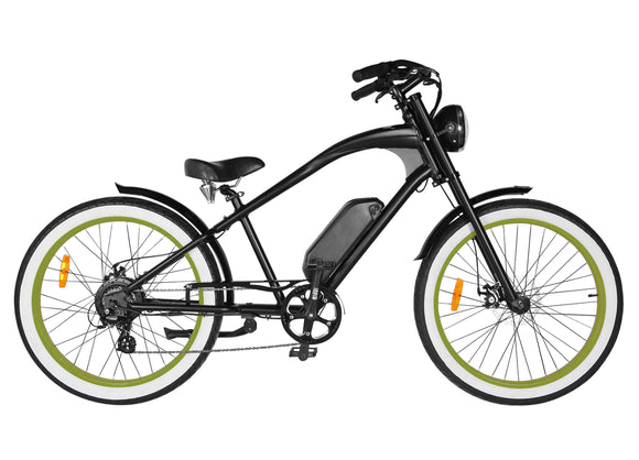 Michael Blast T4B Vacay 500w Electric Bike High Step - Green Rim
