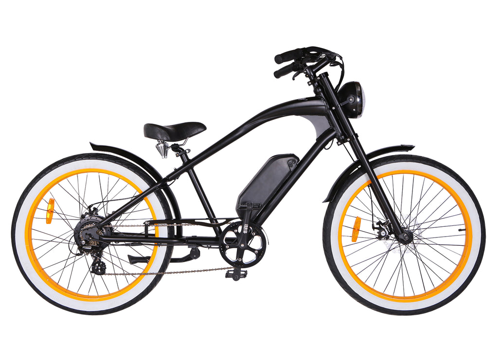 Michael Blast T4B Vacay 500w Electric Bike High Step - Orange Rim