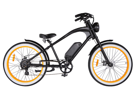 Michael Blast T4B Vacay 350w Electric Bike High Step - Orange Rim