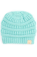 Hana CC kids knit beanie with fuzzy lining inside