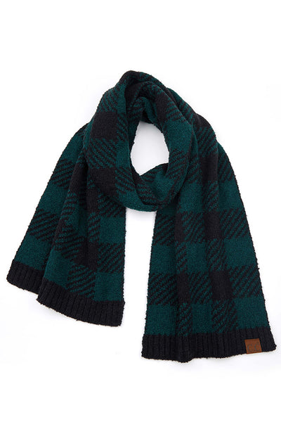Hana CC buffalo check jacquard kit scarf