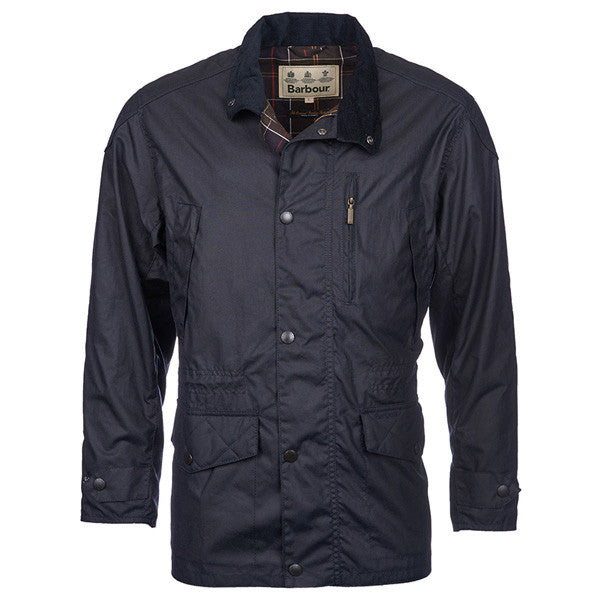Summer Trapper Wax Jkt. Navy