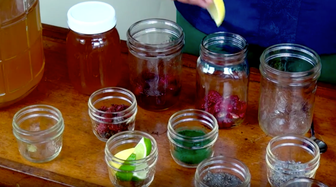Berry, Herbal , and Citrus. Try different ways to flavor kombucha