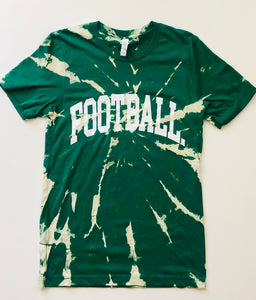 TIE-DYE GREEN FOOTBALL. TEE