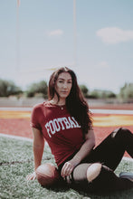Load image into Gallery viewer, RED FOOTBALL. TEE