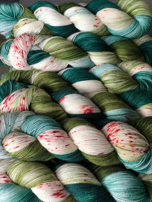 The Holly & The Ivy Silver Sparkle Sock