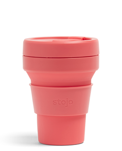 Stojo 12oz Collapsible Cup Coral