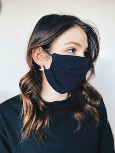 Organic Cotton (GOTS) Reusable Face Mask In Black
