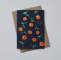 Birthday Wishes Clementines Greeting Card