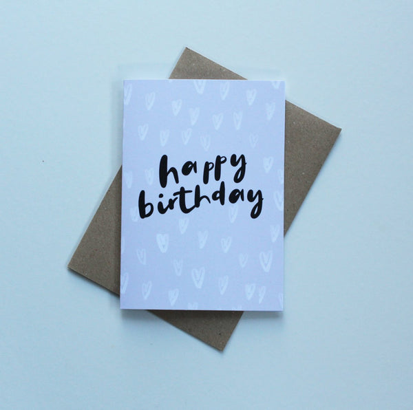 Happy Birthday Hearts Greeting Card
