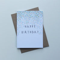 Happy Birthday Confetti Greeting Card