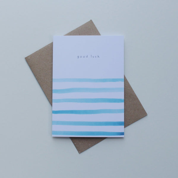 Good Luck Stripes Greeting Card