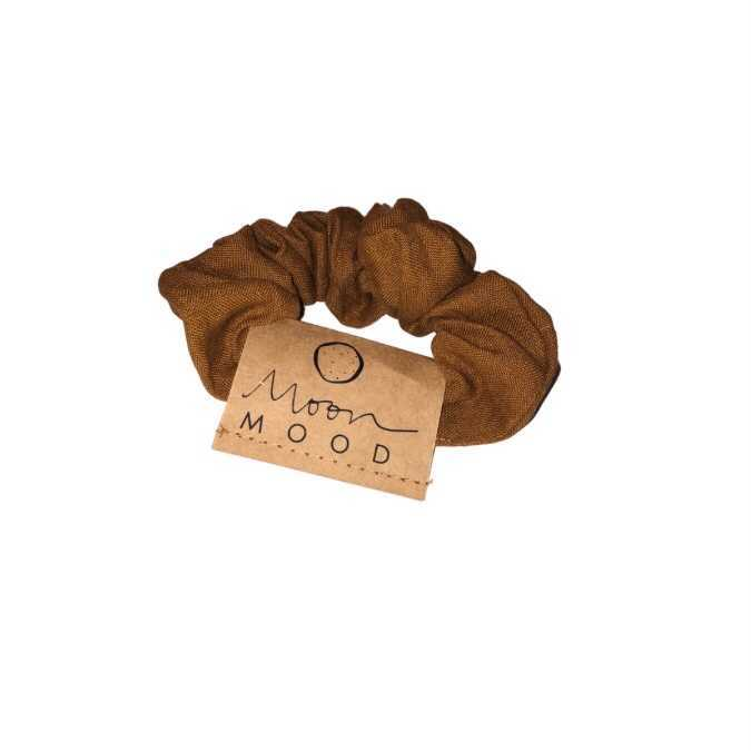 Burnt Orange Linen Scrunchies