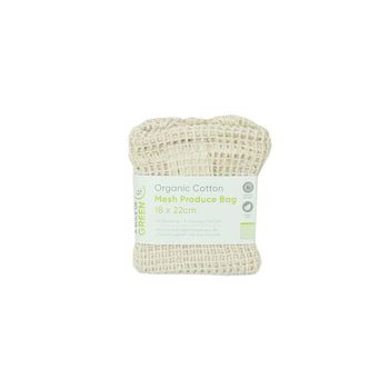 Organic Cotton Mesh Produce Bag - Small (18 x 22cm)
