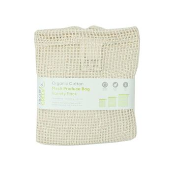 Organic Cotton Mesh Produce Bag Variety Pack - Set of 3