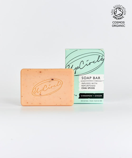 UpCircle ORGANIC CINNAMON + GINGER CHAI SOAP BAR 100G