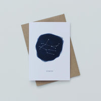 Gemini Zodiac Greeting Card