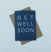 Get Well Soon Blue Greeting Card
