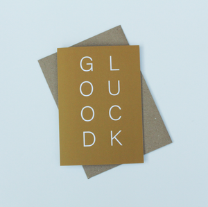 Good Luck Yellow Greeting Card
