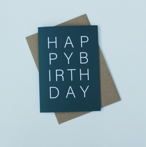 Happy Birthday Green Greeting Card