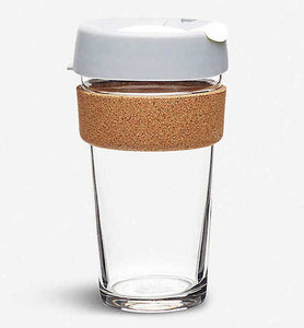 KeepCup Glass with Cork Band (Grey) 8oz/12oz/16oz