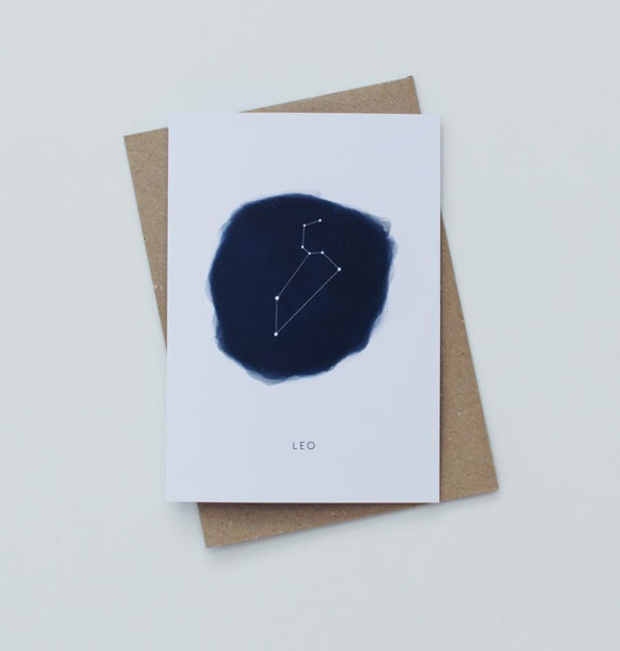 Leo Zodiac Greeting Card