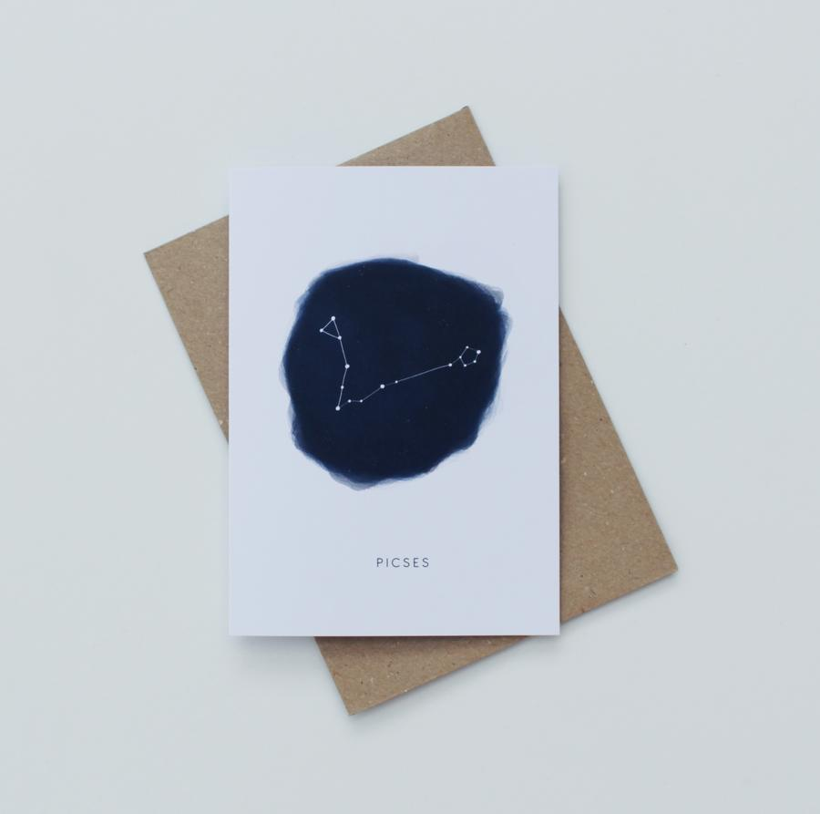 Pisces Zodiac Greeting Card