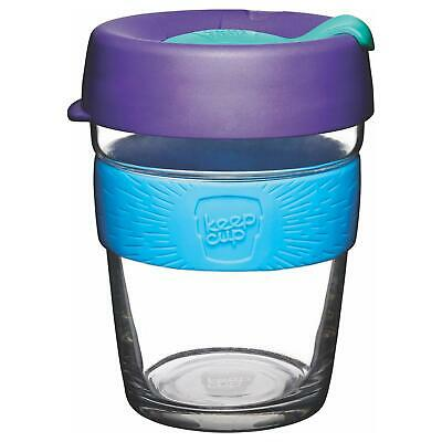 KeepCup Glass (Purple Lid with Blue Silicone Band)