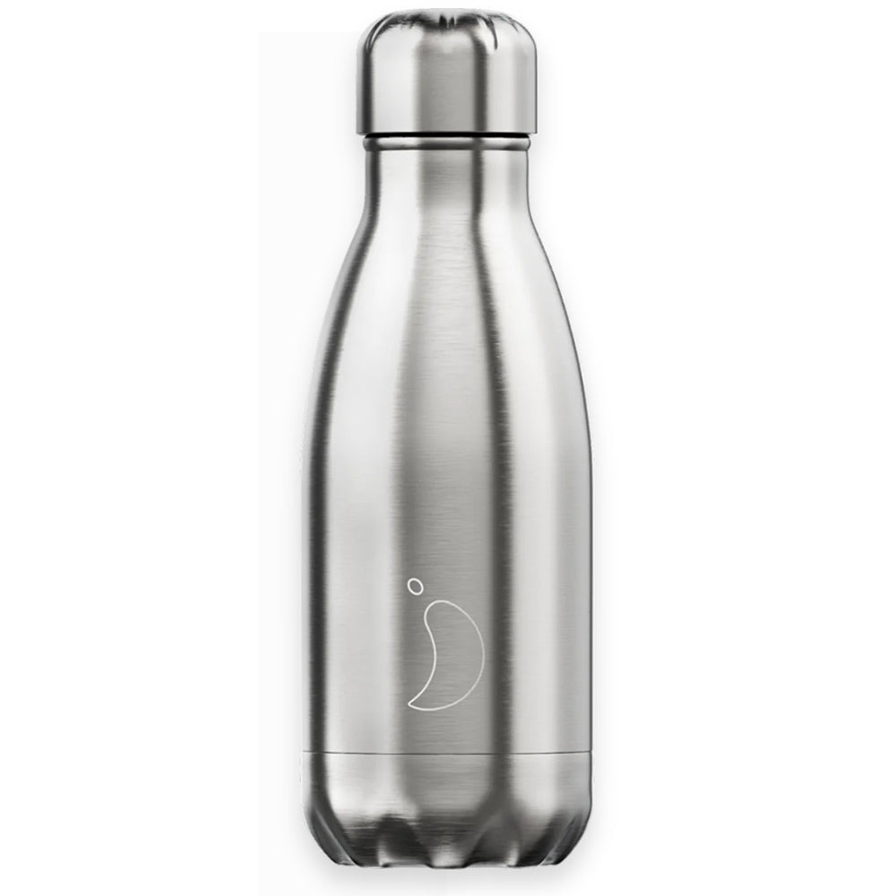 Chilly's Bottle 260ml Brushed Metal
