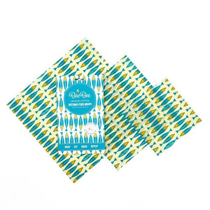 Beeswax Food Wraps - 3 Pack (Sardines Pattern)