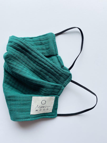 Organic Cotton (GOTS) Reusable Face Mask In Green