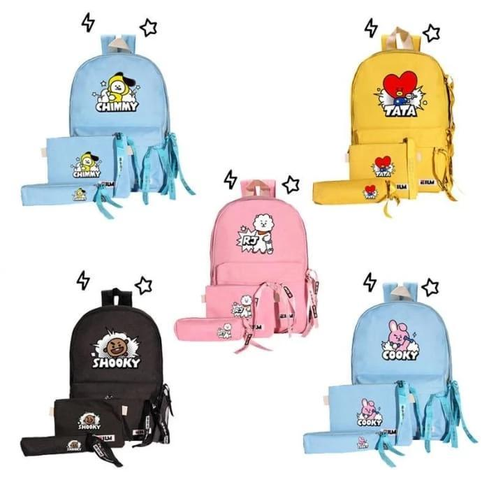 BACK TO SCHOOL BACKPACK SET - BTS ARMY MERCH