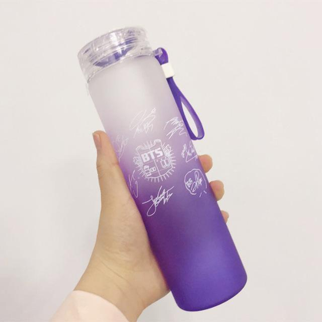 BTS Signed Glass Bottles - BTS ARMY MERCH