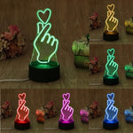 Color Changing Finger Heartu LED Night Light - BTS ARMY MERCH