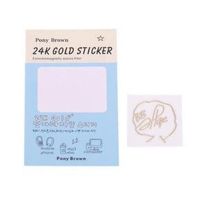 Gold Plated Anti-Radiation Signature Stickers - BTS ARMY MERCH