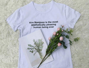Kim Namjoon Aesthetic T-Shirt - BTS clothing